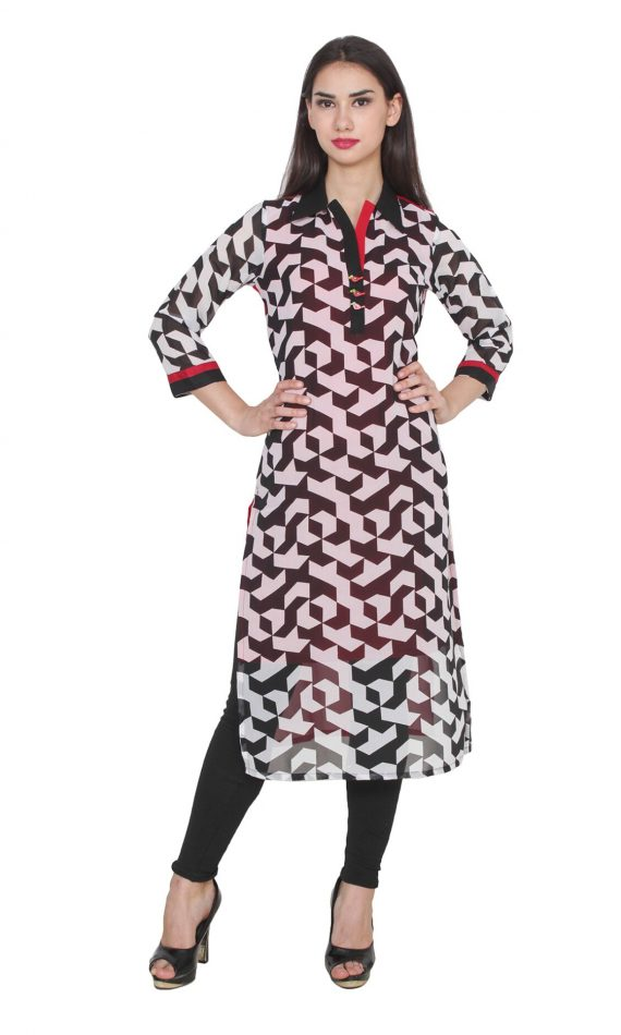 Mirabella Multi-colored Birdie Printed Kurta