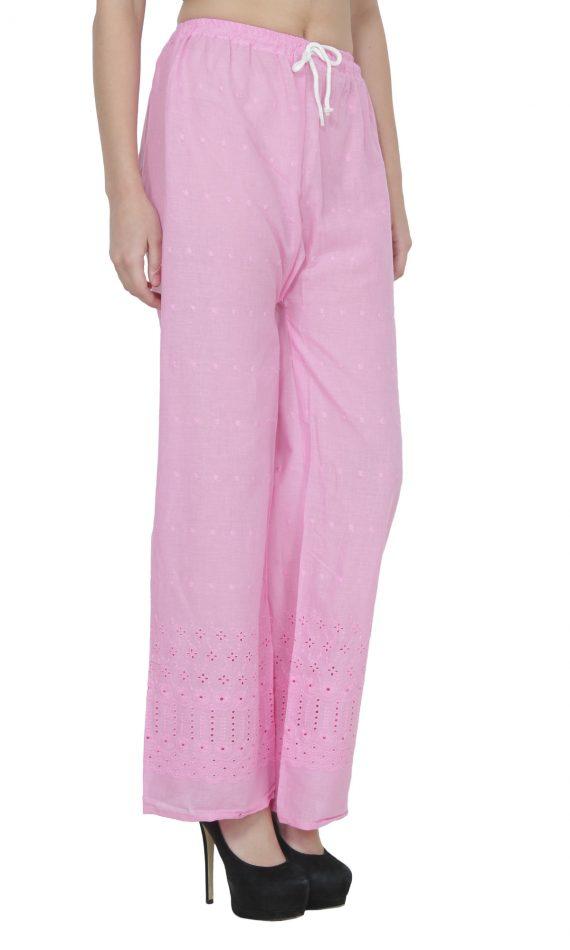 Mirabella Pink Cotton Palazzo